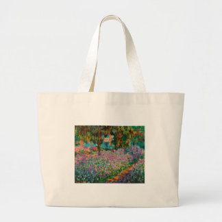 Irises In Monets Garden Large Tote Bag