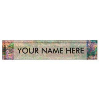 Irises In Monets Garden Name Plate