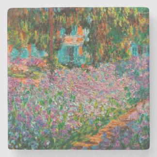 Irises In Monets Garden Stone Coaster
