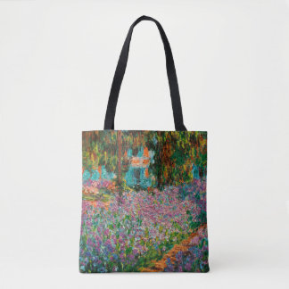 Irises In Monets Garden Tote Bag