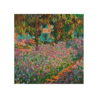 Irises In Monets Garden Wood Wall Decor