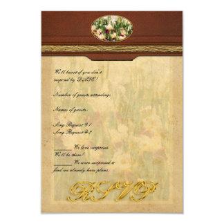 "Irises - Mildred Presby 1923 3.5"" X 5"" Invitation Card"