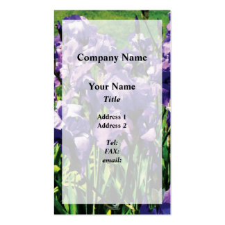 Irises Princess Royal Smith Pack Of Standard Business Cards