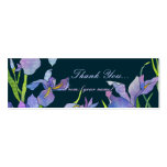 Irises:Thank You Gift Tag/Bookmark Business Card Templates