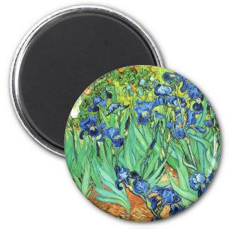 Irises - Vincent Van Gogh (1889) 6 Cm Round Magnet