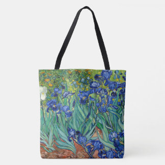 Irises Vincent Van Gogh Blue Flowers Nature Art Tote Bag