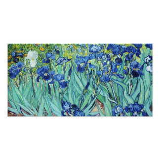 Irises, Vincent van Gogh. Custom Photo Card