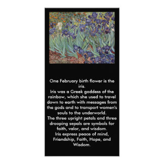 Irises - Vincent Willem van Gogh Custom Photo Card