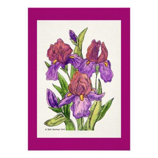 Irises Watercolor Invitations