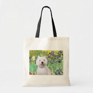 Irises - Westie 2 Budget Tote Bag