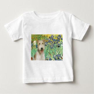 Irises - Wire Fox Terrier #1 Baby T-Shirt