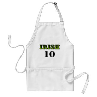 Irish 10! Cool Saint Patricks Design! Standard Apron