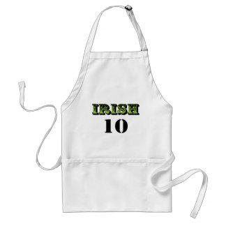 Irish 10! Cool Saint Patricks Design! Standard Apron
