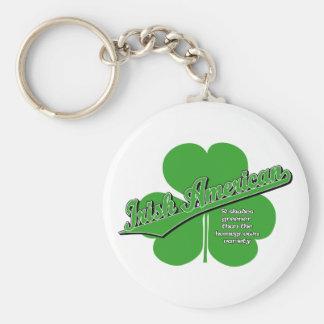 Irish American Basic Round Button Key Ring