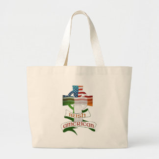 Irish American Celtic Cross Large Tote Bag