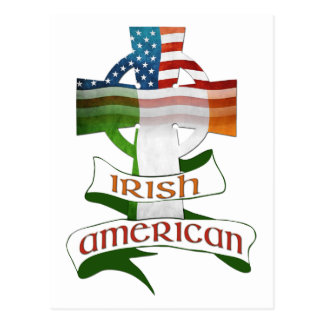 Irish American Celtic Cross Postcards