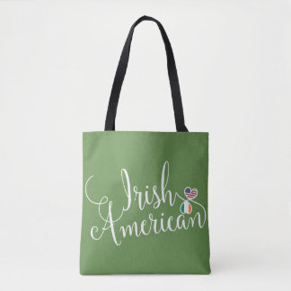 Irish American Entwined Hearts Grocery Bag
