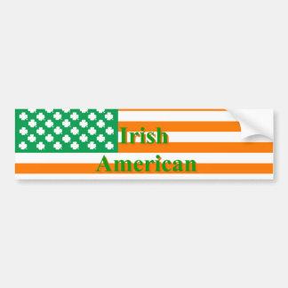 Irish american flag car bumper sticker