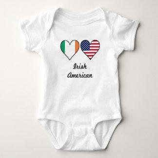 Irish American Flag Hearts Baby Bodysuit