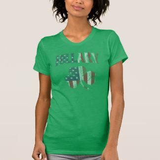 Irish American Flag Hillary 2016 Shamrock Tshirt