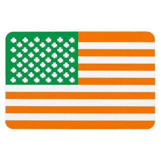 Irish american flag magnet