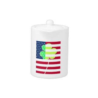 Irish American Flag Shamrock Clover St. Patrick