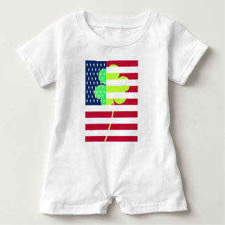 Irish American Flag Shamrock Clover St. Patrick Baby Bodysuit