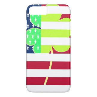 Irish American Flag Shamrock Clover St. Patrick iPhone 8 Plus/7 Plus Case