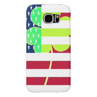 Irish American Flag Shamrock Clover St. Patrick Samsung Galaxy S6 Cases