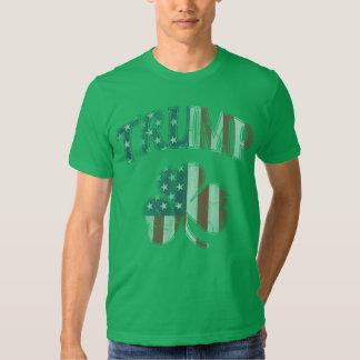 Irish American Flag Trump 2016 Shamrock Tee Shirts