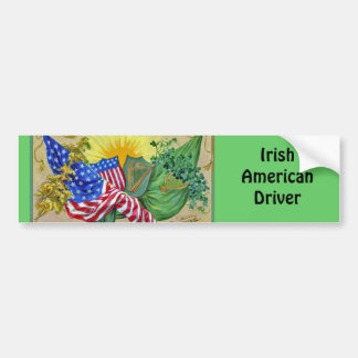 irish american flags bumper sticker