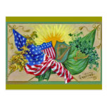 irish american flags postcards