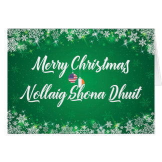 Irish American Gaelic Bilingual Holiday Card
