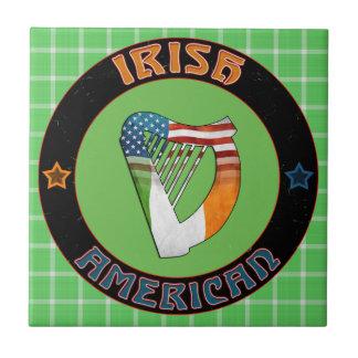 Irish American Harp Tile