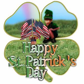 Irish American Leprechaun Standing Photo Sculpture