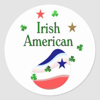 Irish American Round Sticker
