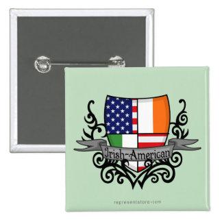 Irish-American Shield Flag Buttons