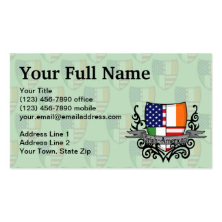 Irish-American Shield Flag Pack Of Standard Business Cards