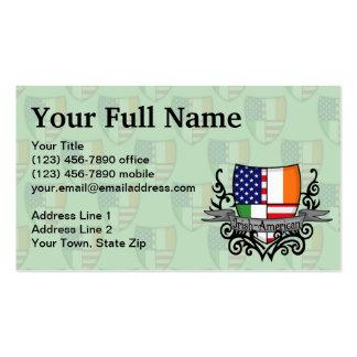 Irish-American Shield Flag Business Cards