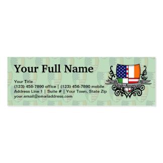 Irish-American Shield Flag Business Card Template