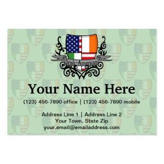 Irish-American Shield Flag Large Business Cards (Pack Of 100)