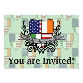 "Irish-American Shield Flag 5"" X 7"" Invitation Card"