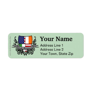 Irish-American Shield Flag Return Address Label