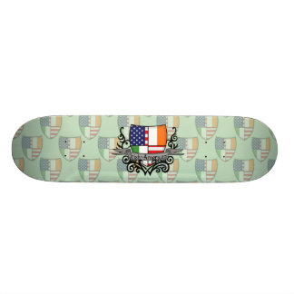 Irish-American Shield Flag Skate Board