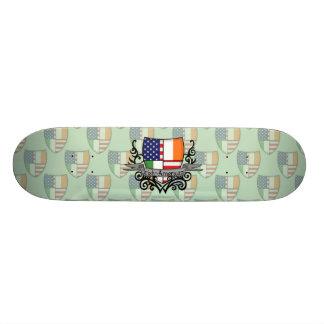 Irish-American Shield Flag Skate Boards
