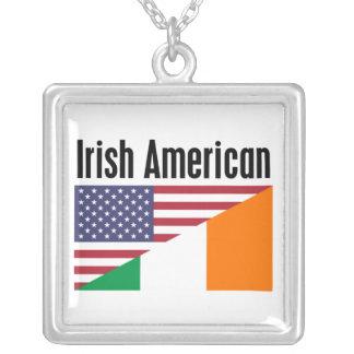 Irish American Square Pendant Necklace