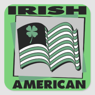Irish American Square Sticker