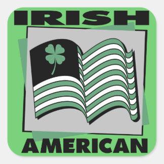 Irish American Square Sticker