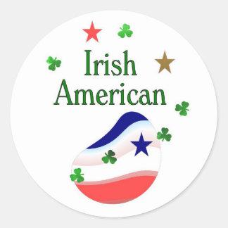 Irish American Round Stickers