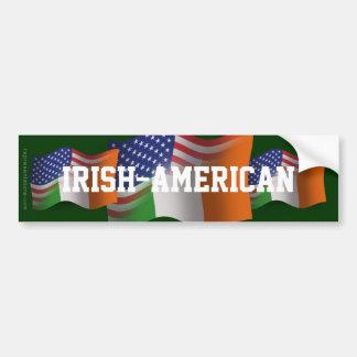 Irish-American Waving Flag Car Bumper Sticker